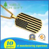 우표 기념품 선물로 새겨지는 로고를 가진 은 금속 스테인리스 군번줄