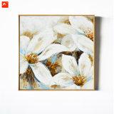 Peinture à l'huile fabriquée à la main d'illustration de mur de magnolia