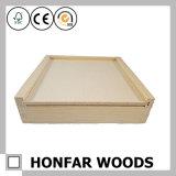 Contenitore impaccante di legno di contenitore di regalo di semplicità di DIY