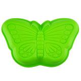 Le guindineau vert a formé le moulage respectueux de l'environnement de gâteau de silicones de Bakeware de silicones de FDA