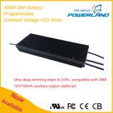 400W 24V wasserdichter LED Fahrer der im Freien programmierbaren konstanten Spannungs-