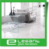 曲がったガラスベースが付いている円形のガラス上部表