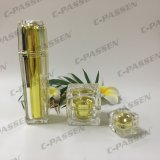 化粧品の包装のための15g 30g 50gの水晶金のアクリルのクリーム色の瓶(PPC-ACJ-124)