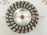Двойной алмазный резец колеса чашки Turbo диаманта рядка