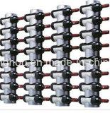 Cremagliera di visualizzazione fissata al muro di alluminio delle bottiglie di vino della nuova novità di disegno