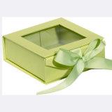 Rectángulo de papel de vestir de las compras del diseño de la manera de la insignia de la cartulina de la venta de encargo en línea del envío