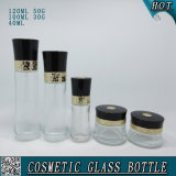 Le modèle neuf a personnalisé le jeu matériel en verre cosmétique de crème de bouteille