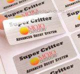 Impresión adhesiva personalizada alta calidad de las etiquetas engomadas del vinilo del color de la plata de la laminación de Matt