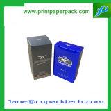 Rectángulo de empaquetado impreso aduana del perfume cosmético del papel de arte