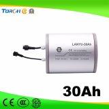 Batería profunda de la potencia del litio 18650 del ciclo 3.7V 2500mAh de la capacidad plena