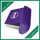 Boîte-cadeau pourprée de papier de luxe avec le laminage de Matt