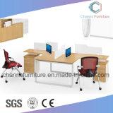 Moderne Möbel mit seitlicher Tisch-Melamin-Büro-Partition