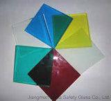 색깔 PVB를 가진 8mm+1.52PVB+8mm (17.52mm) 단단하게 한 박판으로 만들어진 유리