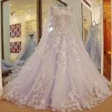 O vestido nupcial do casamento destacável perla o vestido de casamento Zy04 do laço da pena