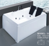Acrylic Square Sanitaryware Whirlpool banheira de hidromassagem de massagem (517)