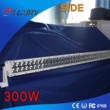 300W LED 일 표시등 막대 차 빛 Offroad 4X4 백색 검정