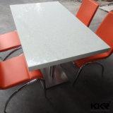 Durável mármore branco mesa redonda de jantar e cadeiras