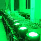 DMX RGB Profesional 100W COB LED PAR puede luz de la etapa