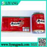 Упаковка еды, пленка передачи тепла на пластичном ведре