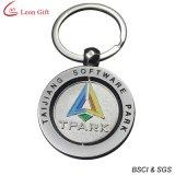Round Metal Silver Key Ring com etiqueta Epoxy
