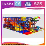 Equipo de interior del patio de los niños grandes de la diapositiva (QL-18-7)