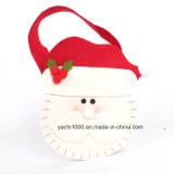 Saco do boneco de neve e dos cervos do Natal com tela de feltro