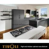 2017新しい方法台所デザインマットの黒い曇らされた塗る台所家具(AP056)
