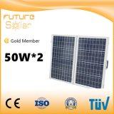 comitato solare di Sun di alta efficienza delle cellule 50W*2 per la casa Using