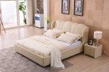 광동 Foshan 현대 침실 가구 가죽 연약한 침대 9559