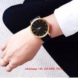 Reloj popular simple de la aleación con el cuero genuino Fs475