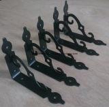 Parentesi decorativa del metallo della mobilia con il rivestimento della polvere
