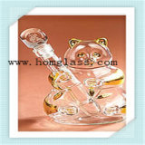 Tarro de la especia de la vinagrera del tarro de la botella de cristal de vino