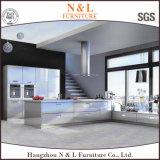 Gabinete de cozinha moderno do aço inoxidável da mobília da HOME do estilo