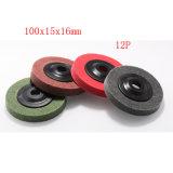 пусковой площадки размывателя круга 100X15 12p щетка диска истирательной Nylon зеленой Nylon