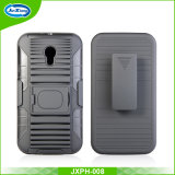 Caixa combinado do telemóvel da tampa traseira do PC de TPU para Motorola Moto G3, caixa do robô da armadura de anel para Motorola Moto G3