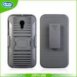 Motorola Moto G3、Motorola Moto G3のためのリング装甲ロボット箱のためのコンボTPUのパソコンの裏表紙の携帯電話の箱