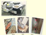 Stampante a base piatta UV industriale acrilica di legno del metallo 2.5*1.3 del portello del Ce