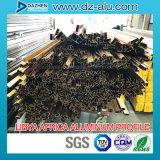 Perfil de alumínio da África do norte para a manufatura da porta do indicador