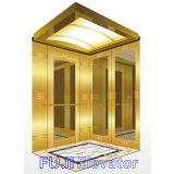FUJI Custom Passenger Elevator voor Sale (decoratie Titanium & Etched binnen)