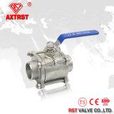 нержавеющая сталь 3PC 304/316 вполне бурит шариковый клапан сварное соединение встык