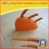 工場供給6PCSのステンレス鋼の包丁はプラスチックホールダー(RYST0116C)とセットした
