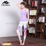 다채로운 인쇄된 최신 형식 요가 Legging 여자 적당 긴바지