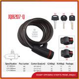 ブラケットが付いているJq8207-Qの適正価格の螺線形ケーブルロックの自転車ロック