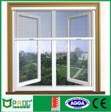 Finestra di alluminio rivestita della stoffa per tendine della polvere con singolo vetro