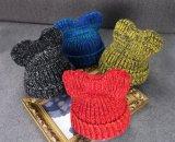 Beanie mignon tricoté par coutume d'oreille de chat de l'hiver de Hotselling