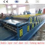 Feuille de toit de Double couche faisant le roulis formant la machine
