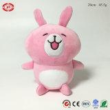분홍색 토끼 견면 벨벳에 의하여 채워진 거품은 빨판을%s 가진 연약한 Keychain를 구슬로 장식한다