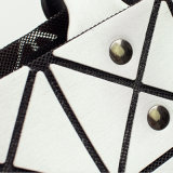 bolso rombal geométrico de la PU de la plata de la talla 8X8 (A042)
