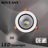 MAZORCA ligera de aluminio de fundición a presión a troquel LED Ceilinglight del proyector de 3W LED Ce&RoHS LED