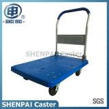 Capa Steel 300kg Platform Hand Cart com rodas de borracha